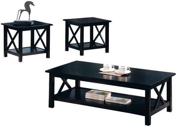 Briarcliff Casual 3 Piece Occasional Table Set Capuccino