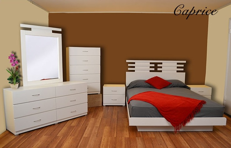 Caprice 5-Piece Platform Bedroom Set