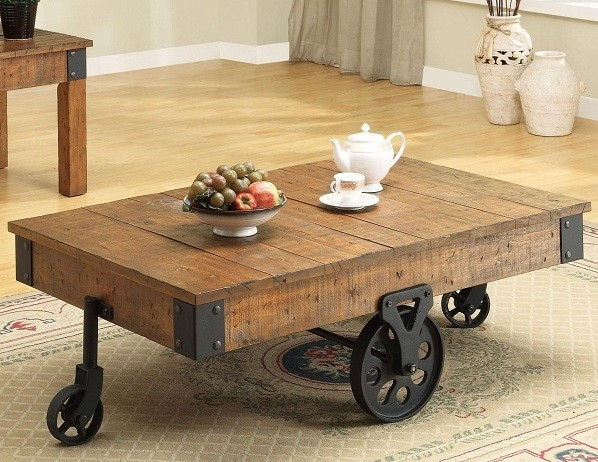 Distressed Country Wagon Coffee Table