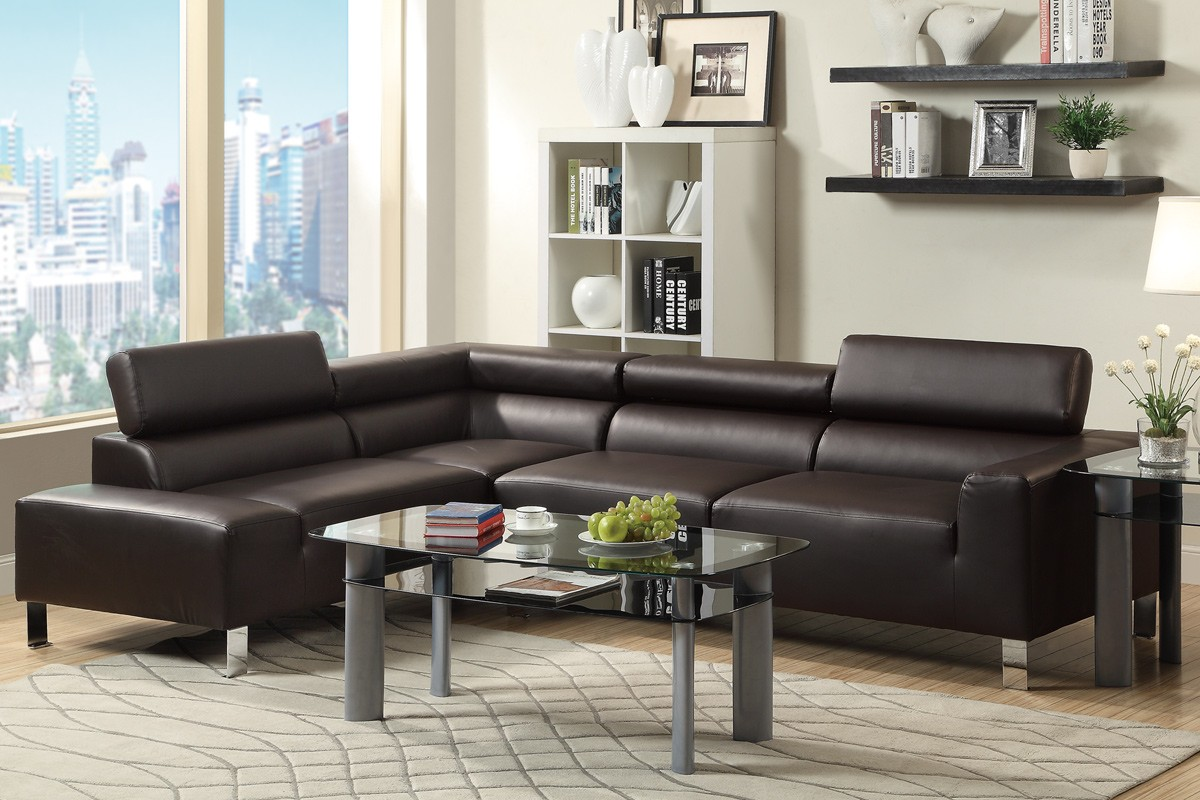 Espresso Modern Sectional