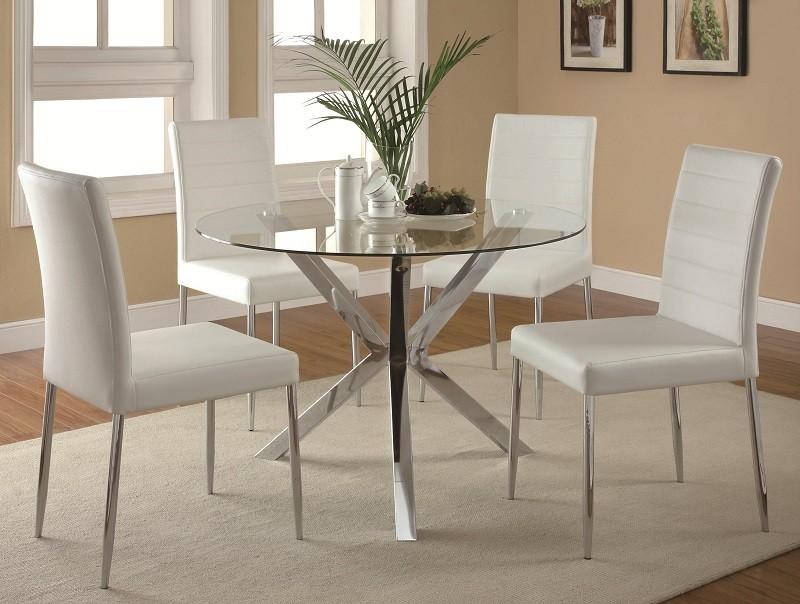 Madrid White 5-Piece Dining Set