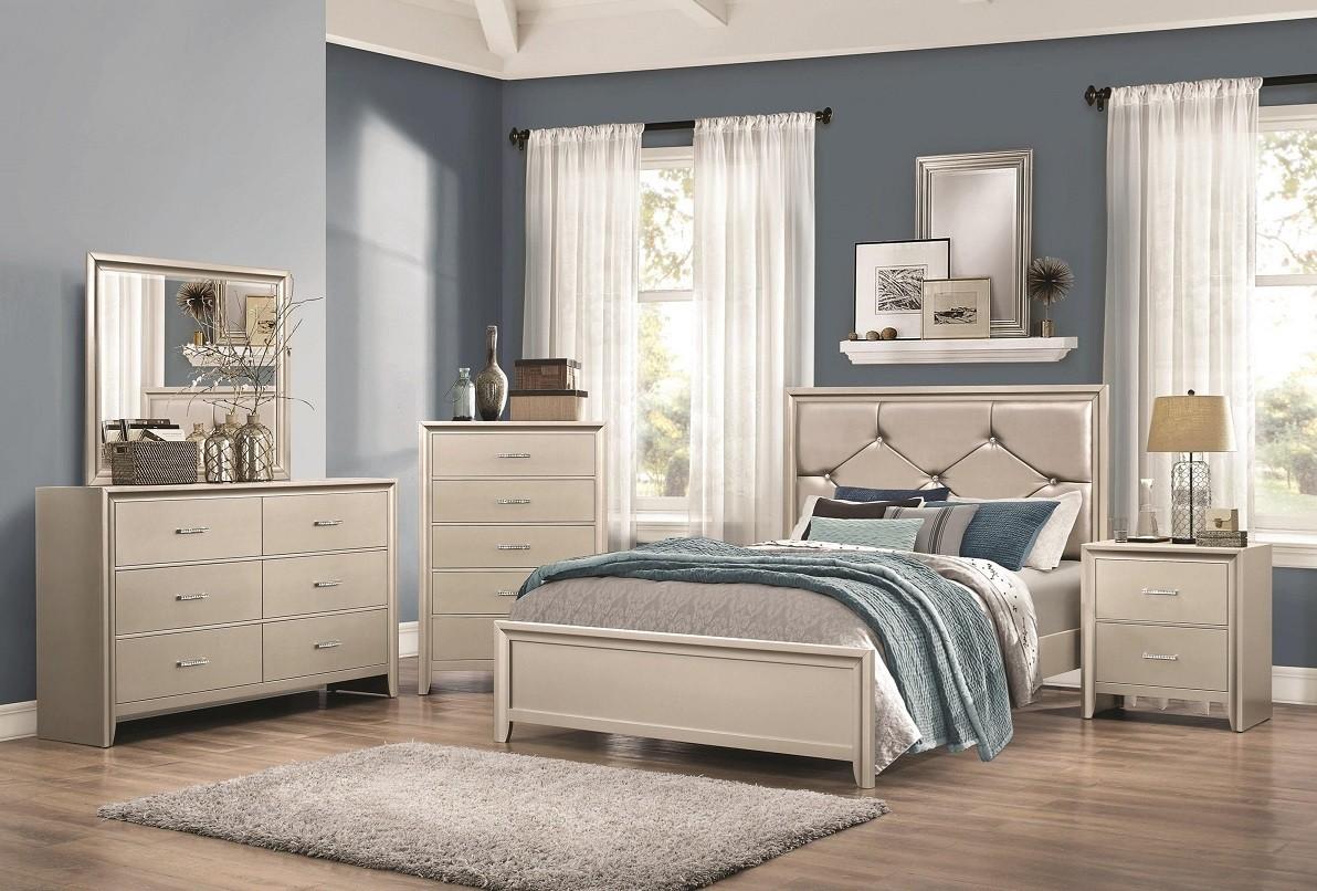 Lana Silver 4-Piece Bedroom Set
