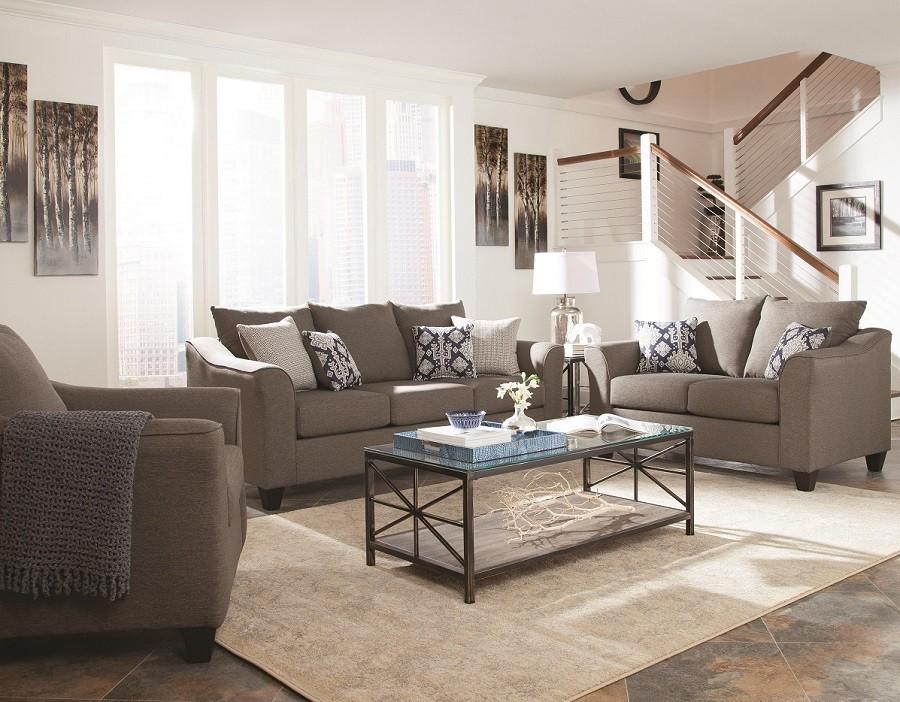 Jaime Grey Sofa and Loveseat