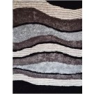 Wave Black and Gray Rug