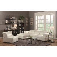 Darby White Sectional Sofa
