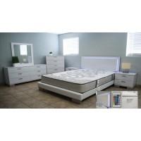 Felicity LED Lights 3-Pc Bedroom Set
