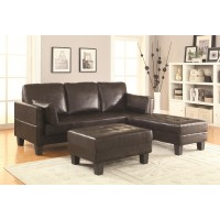 Oscar Dark Brown Futon with Ottoman