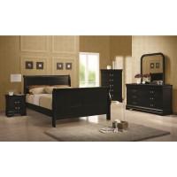 Louis Phillipe Black 4-Piece Bedroom Set