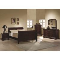Louis Phillipe Cherry 4-Piece Bedroom Set