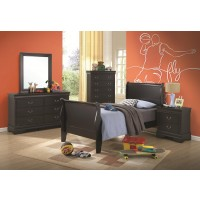 Louis Philippe Black 4-Piece Bedroom Set
