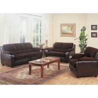 Monika Chocolate Sofa and Loveseat