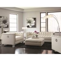 Arianna White Sofa and Loveseat Set