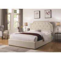 Aspen Beige Fabric Lift-Top Bed