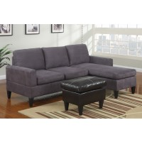 Deco Gray Sectional with Ottoman