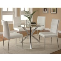 Madrid White 5-Piece Dining Set
