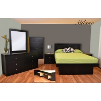 Milano Platform 5-Piece Bedroom Set