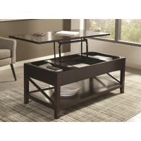 Dan Lift Top Espresso Coffee Table