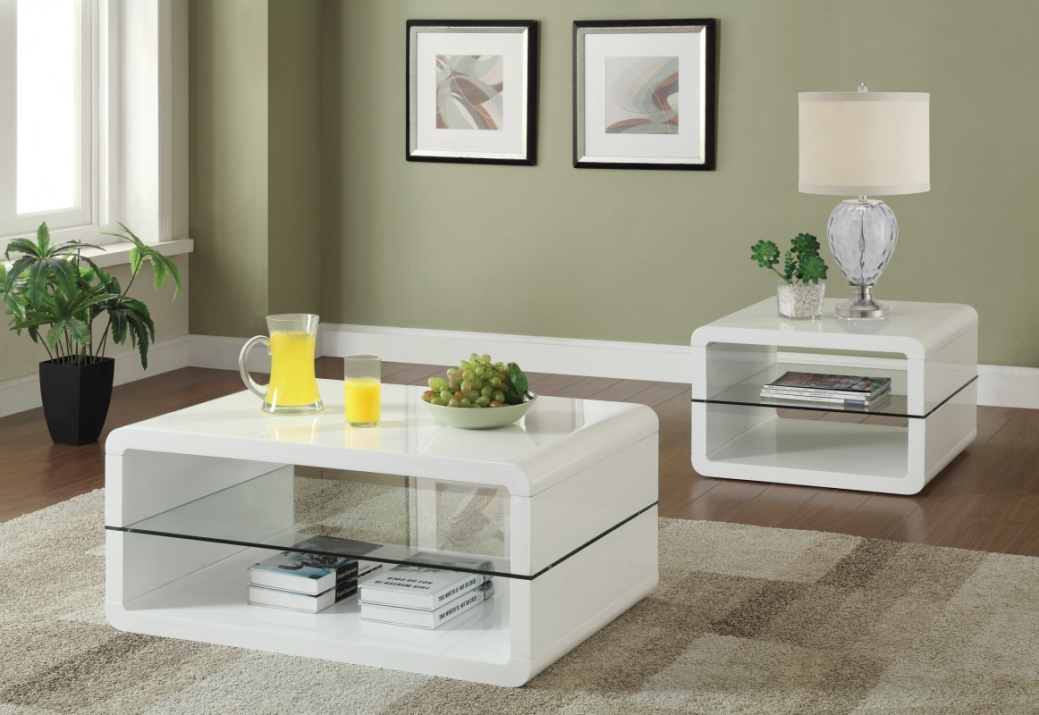Cole White Coffee Table