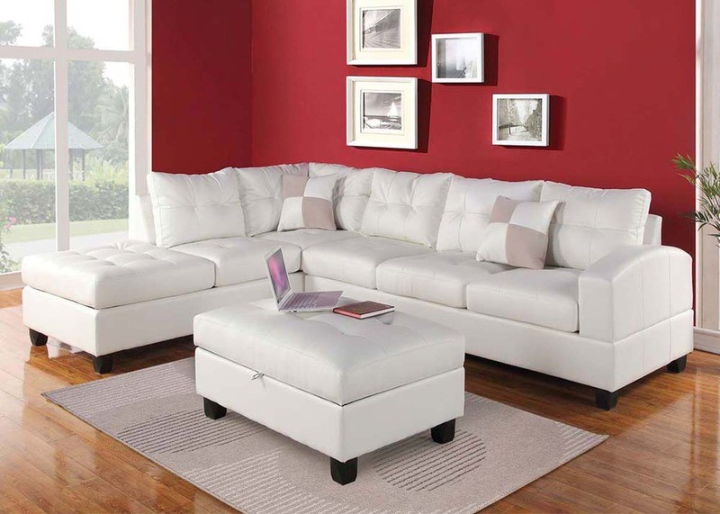 Marilyn White Leather Sectional
