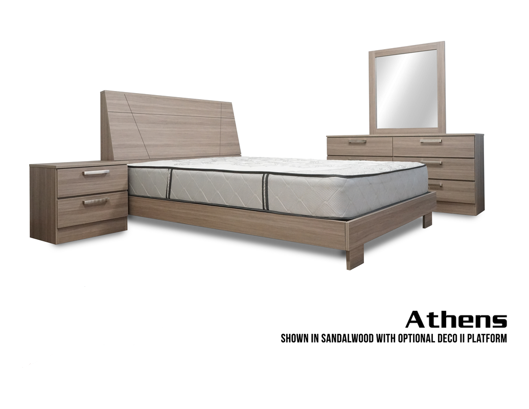Athens Bedroom Set ( Deco Platform 2) - Miami Furniture