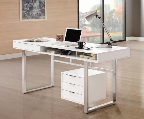 Contemporary White Desk