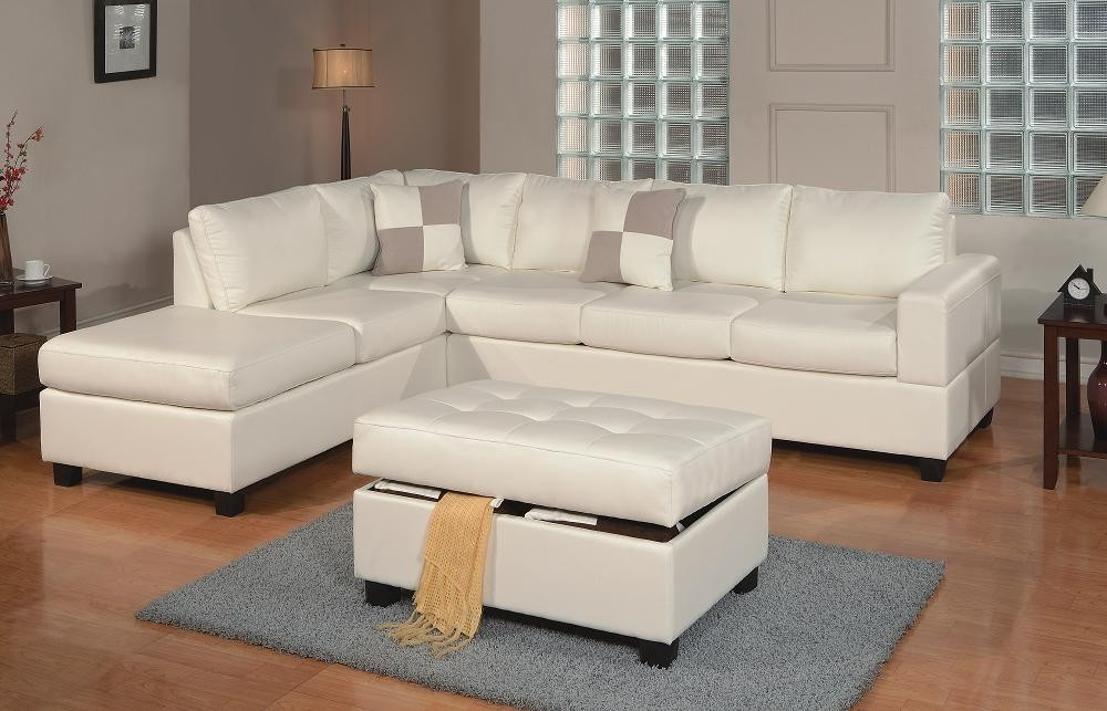 Miami Leather Sectional with Ottoman