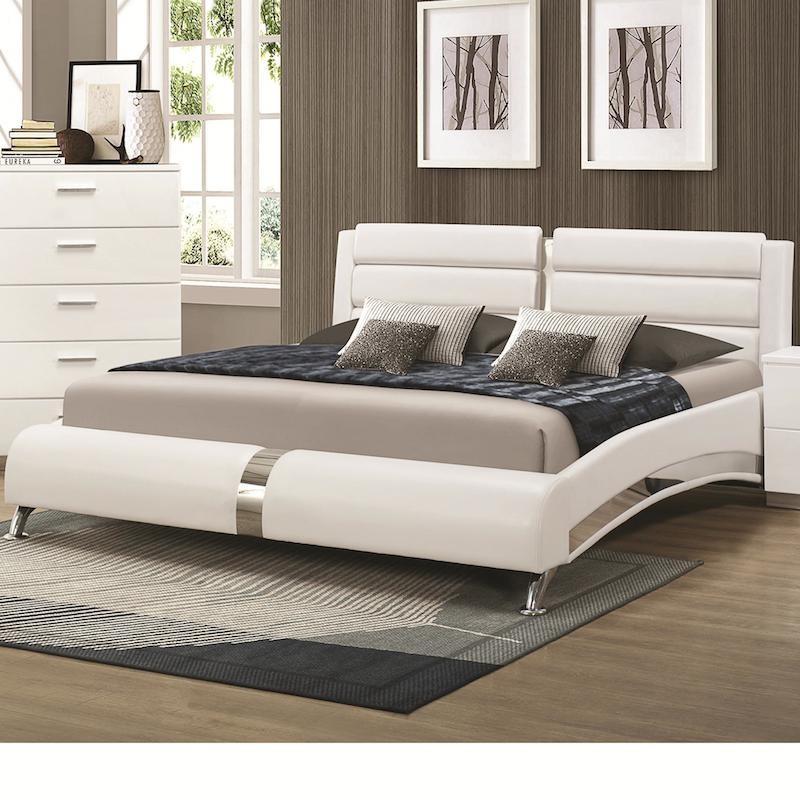Jeslyn White Bed