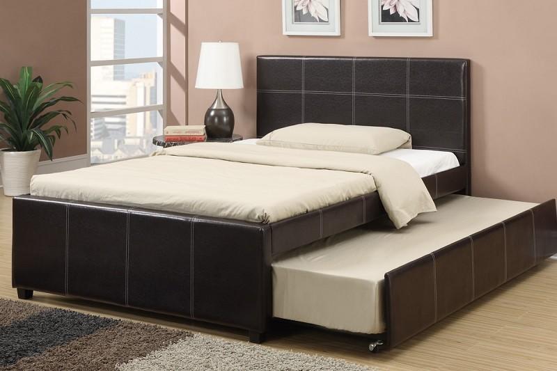 Ronnie Espresso Bed