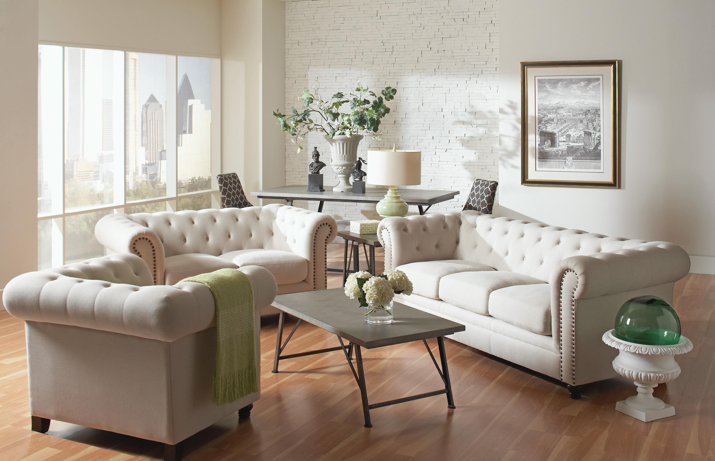 Roy Fabric Sofa and Loveseat