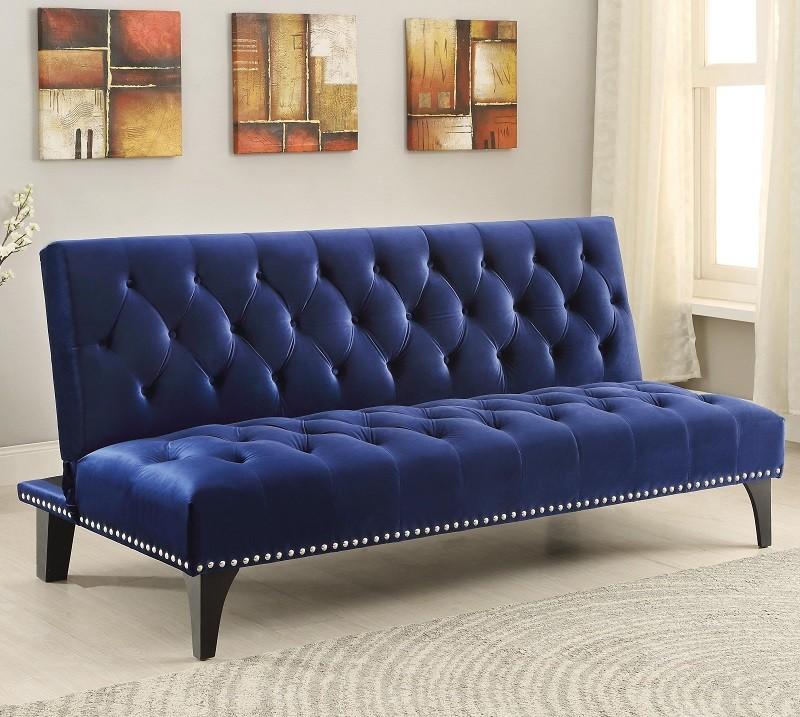 Michigan Dark Blue Futon