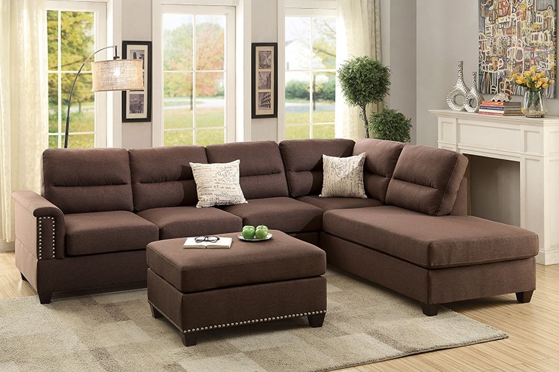 Lux Chocolate Sectional