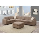 Dannis Saddle Sectional with Ottoman