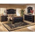 Coral Creek Upholstered Mansion King 4-Piece Bedroom Set