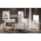 Louis Philippe White 4-Piece Bedroom Set
