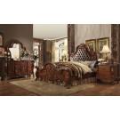 Dresden Cherry Oak Finish Upholstered 4-Piece Bedroom Set