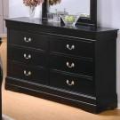 Louis Phillipe Black Dresser