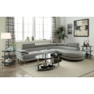 Quincy Grey Leatherette Sectional