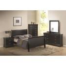 Louis Philippe Black 4-Piece Bedroom Set
