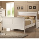 Louis Philippe White Bed