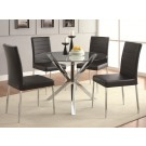Madrid Black 5-Piece Dining Set