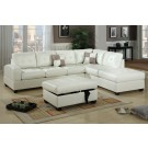 Luxe White Sectional
