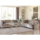 Glam Silver Sofa and Loveseat