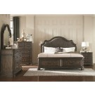 Carlsbad Storage with Upholstered Headboard 4-Piece Bedroom Set