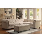 Adam Button Tufted Sectional