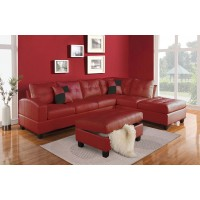 Marilyn Red Leather Sectional