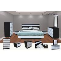 Santorini Platform 4-Piece Bedroom Set