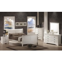 Louis Philippe White 4-Piece Bedroom Set