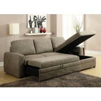 Darwin Light Brown Sectional Sofa Sleeper