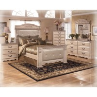 Silverglade Upholstered Mansion 4-Piece Bedroom Set