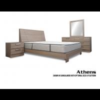 Athens Platform 4-Piece Bedroom Set